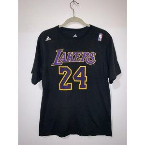 ADIDAS LAKERS KOBE 24 BLACK T-SHIRT - S